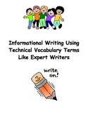 Informational Writing Lesson - Using Technical Terms (Lucy