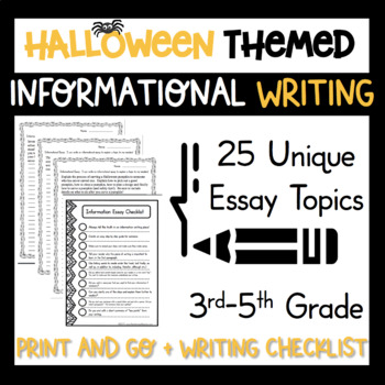 Informational Writing Workshop Unit October Halloween Topi