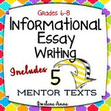 Informational Writing Workshop for Middle School ELA PRINT