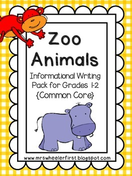 First Grade Informational Writing: Zoo Animals