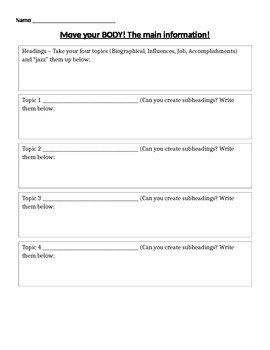 Informational Writing - body paragraphs