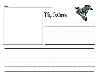 Informational Writing for Halloween Costumes