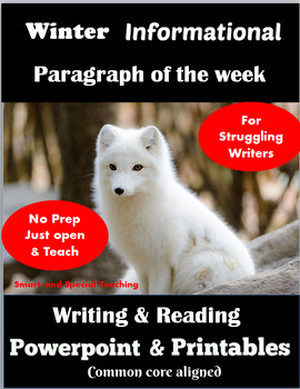 Informational Writing for Struggling Writers Winter-Writing Paragraphs