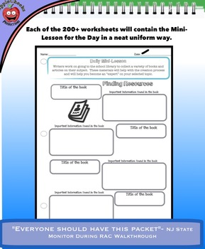 Informational and Explanatory Reading and Writing Unit (Over 200 Pages)