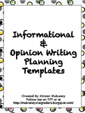 Informational and Opinion Writing Planning Template