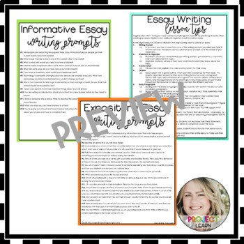 Informational or Expository Essay Template - Google Resource - Digital