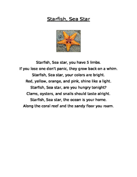 Informational poetry introduction and graphic organizer