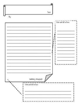 """Informational Text summary project: informational """"scrapbook"""" pages"""