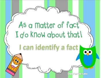 Informational writing (Facts)
