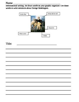 Informational writing about George Washington
