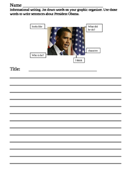 Informational writing about President Obama