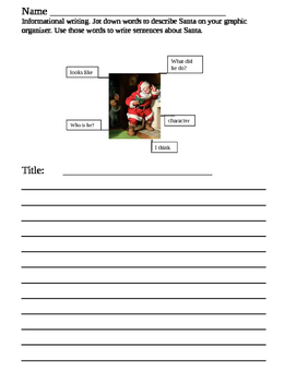 Informational writing about Santa