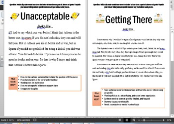 Informational/Argument Response Expectations: What Does It Look Like?