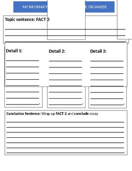 Informative 3-Paragraph Essay Graphic Organizer