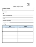 Informative Article Analysis Form, Nonfiction informational text strategies