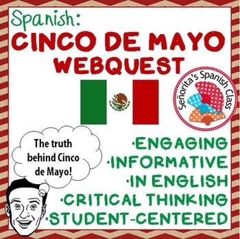 Spanish - Informative CINCO DE MAYO Webquest! - ENGLISH version