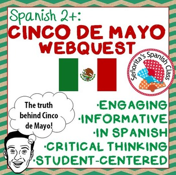 Spanish - Informative CINCO DE MAYO Webquest! - SPANISH version