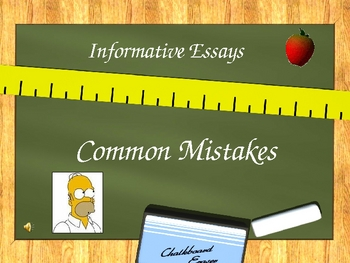 Informative Essay - Common Mistakes (Doh!)