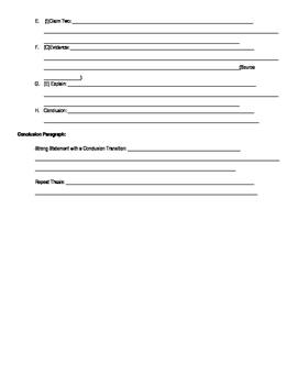 Informative Essay Frame
