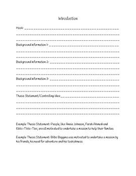 Informative Essay Graphic Organizer