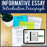 Informative Essay Introduction Paragraph Lesson and Practi