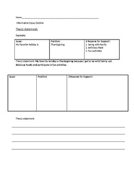 Businessman Essay Informative Essay Outline Sample Essays High School also Persuasive Essay Papers Informative Essay Outline By Watsons Resources  Tpt Process Paper Essay