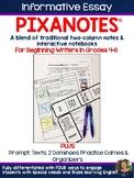 Informative Essay Pixanotes® (Text Based) for Grades 4-6 - FSA Writing