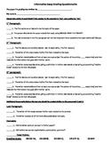 Informative Essay Questionnaire