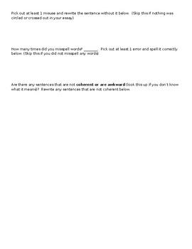 Informative Essay Reflection