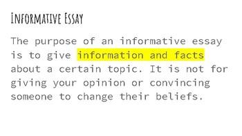 Informative Essay Slideshow
