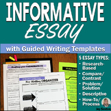 Informative Essay Writing: 5 Informational Essays w/Guided Writing Templates 6-8