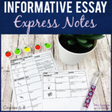 Informative Essay Writing Guided Notes