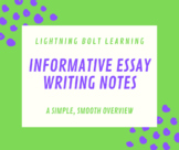 Informative Essay Writing Review Notes PowerPoint
