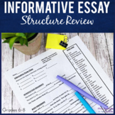 Informative Essay Writing Structure and Terms Review | Clo