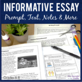 Informative Essay Writing Unit   Printable Texts Notes Organizers
