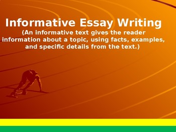 Informative Essay Writing on the Fast Track