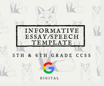 Informative Essay or Presentation Template