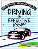 Expository Informative Explanatory Writing No Prep Common