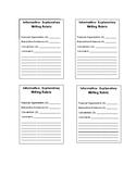 Informative- Explanatory Writing Scoring Sheet- SBA aligned
