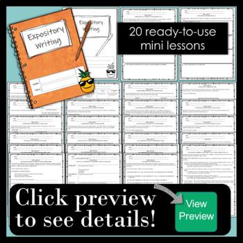 Informative / Explanatory {expository} Writing - Common Core Grade 8
