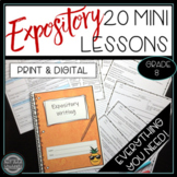 Informative Explanatory Expository Writing Mini Lessons Gr