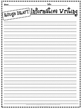 Informative Expository Writing Primary Printable