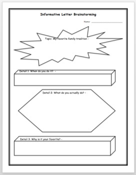 Informative Letter Brainstorm