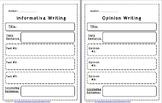 Informative & Opinion Writing Graphic Organizer