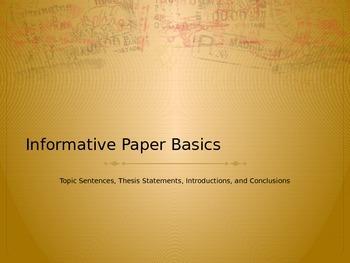 Informative Paper Basics