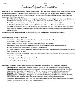 Informative Presentation Summative Task