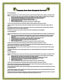 Informative Research Essay Writing in Common Core for St. Patrick's Day