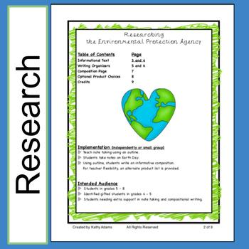 Informative Research and Writing: EPA