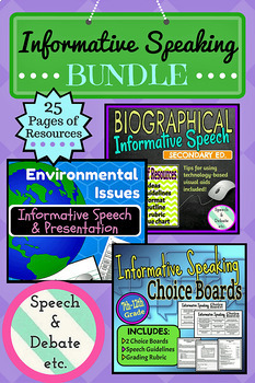 Informative Speaking BUNDLE for Secondary Students