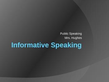 Informative Speaking PPT